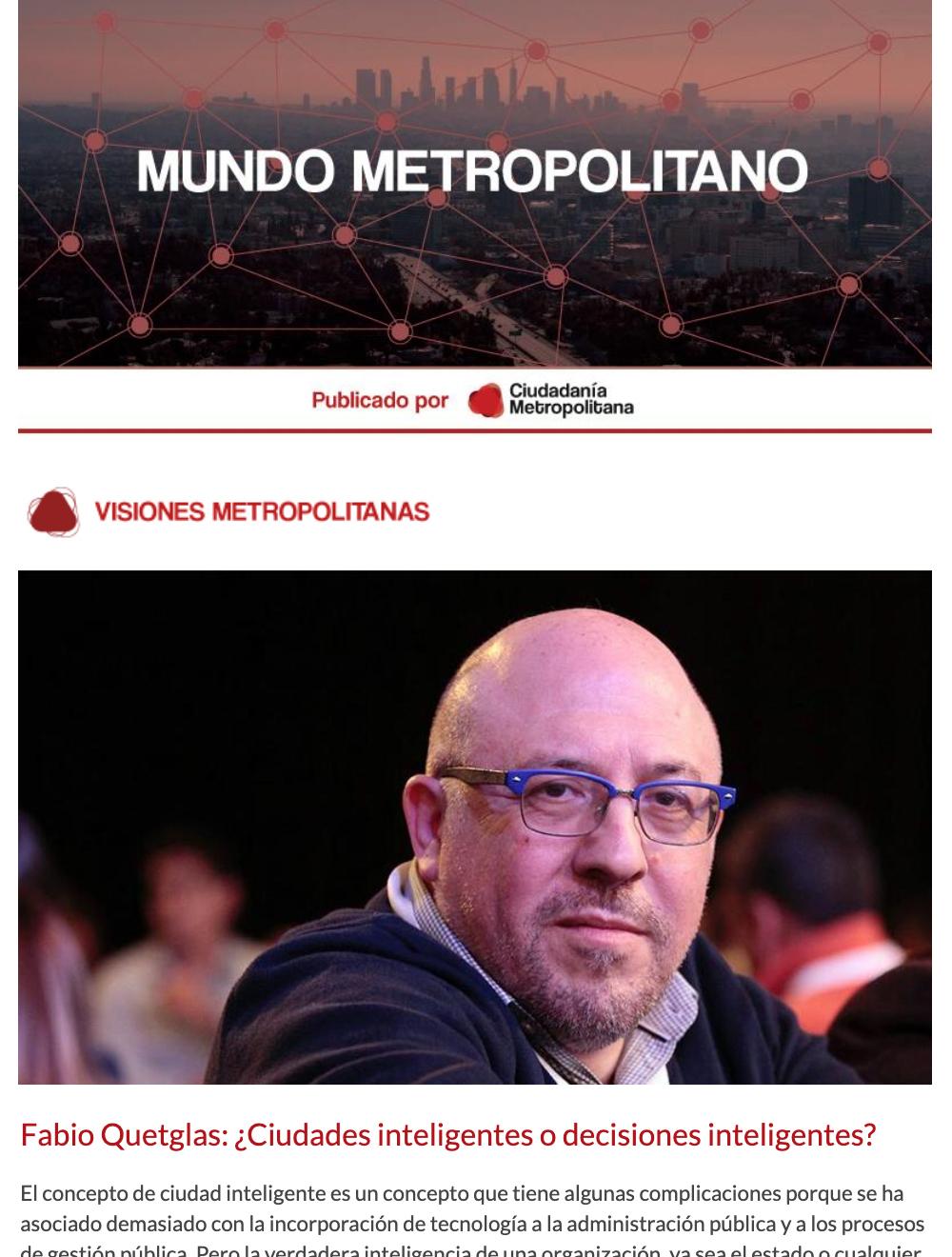 Newsletter Mundo Metropolitano 2